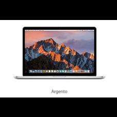 """MacBook Pro 15"""" - Argento-Intel Core i5 dual-core a 2,2 GHz (Turbo Boost fino a 3,4 vGHz) -  16 GB di SDRAM LPDDR3 a 1600 MHz Unità SSD PCIe da 256 GB-  Intel Iris Pro Graphics- MJLQ2T/A"""