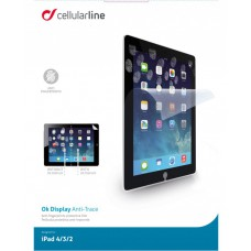 CELLULAR LINE PROTEZIONE DISPLAY IPAD 4/3/2 OK DISPLAY ANTI-TRACE